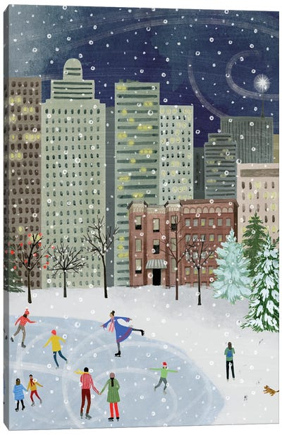 Christmas in the City II Canvas Art Print