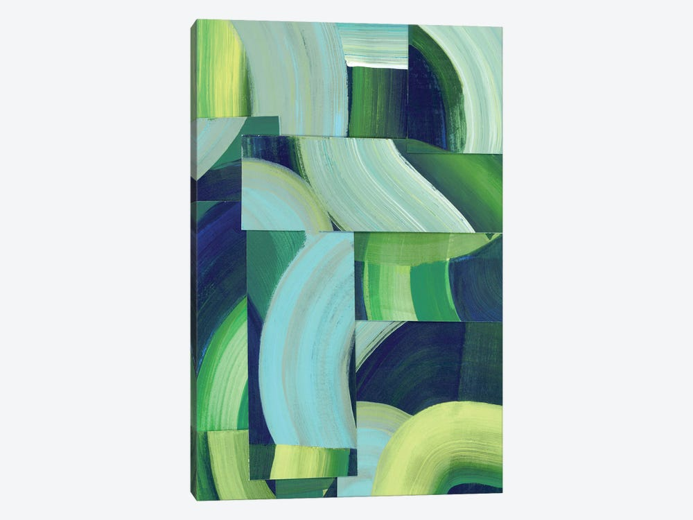 Oceanic Patchwork II by Grace Popp 1-piece Canvas Artwork