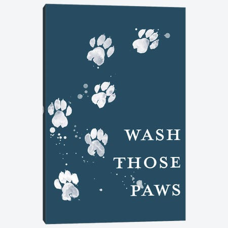 Wash Your Paws I Canvas Print #POP2316} by Grace Popp Canvas Artwork