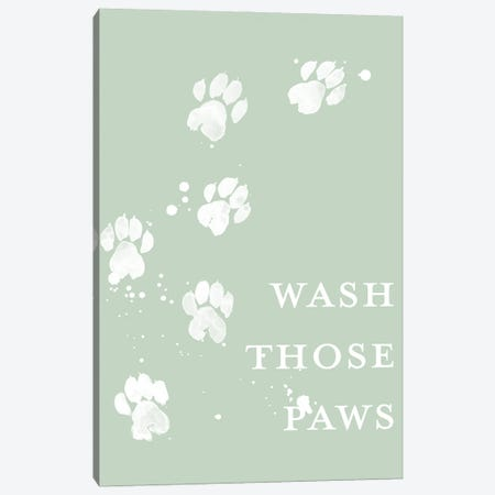 Wash Your Paws III Canvas Print #POP2318} by Grace Popp Canvas Art Print