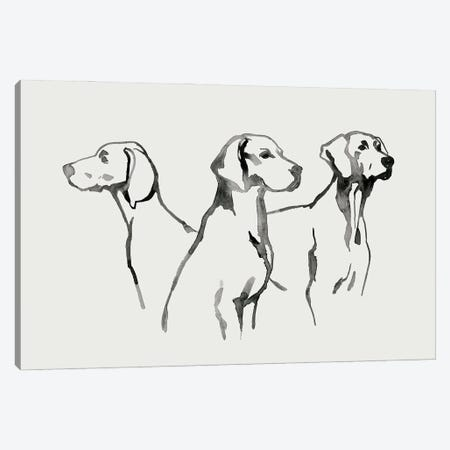 Watercolor Pup I Canvas Print #POP2320} by Grace Popp Canvas Wall Art