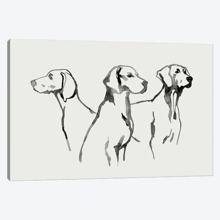 Watercolor Pup I Canvas Print #POP2320} by Grace Popp Canvas Wall Art