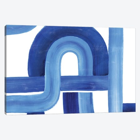 Woven Cobalt I Canvas Print #POP2327} by Grace Popp Canvas Art Print