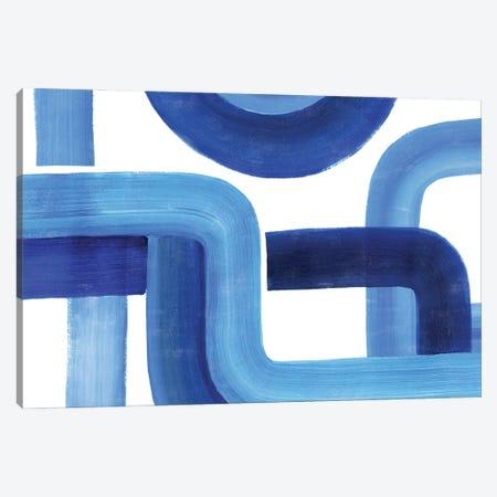Woven Cobalt II Canvas Print #POP2328} by Grace Popp Canvas Art