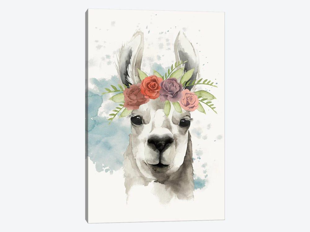 Llama Flora I by Grace Popp 1-piece Art Print