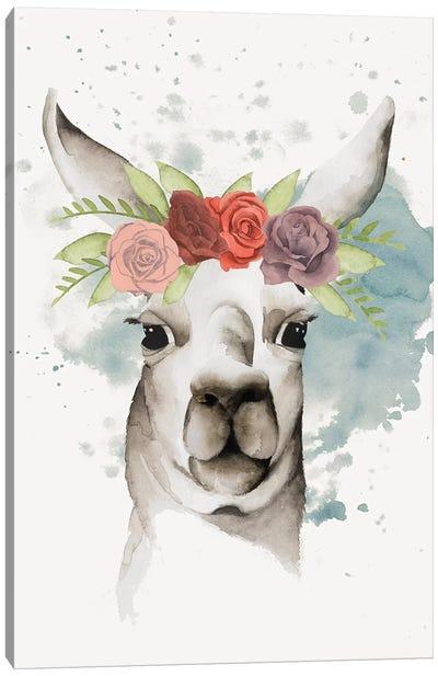 Llama Flora II Canvas Print #POP234
