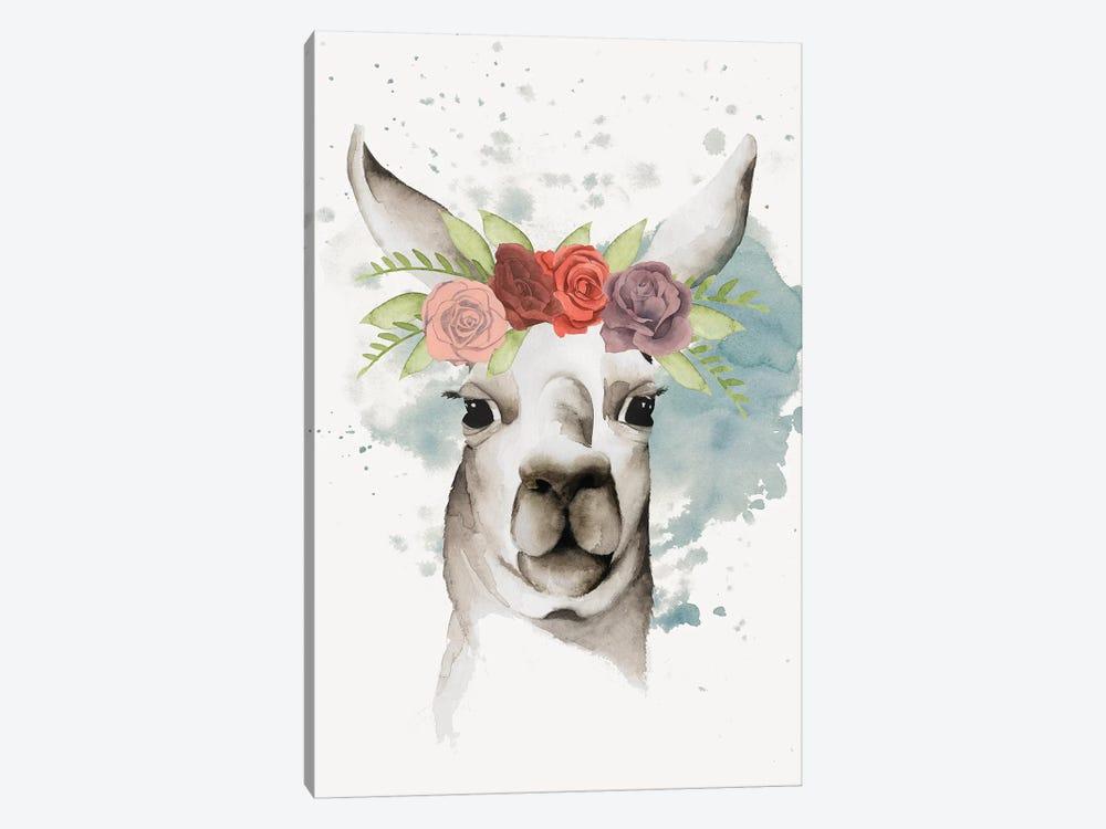 Llama Flora II by Grace Popp 1-piece Canvas Wall Art