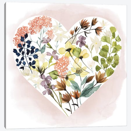 Love Floral I Canvas Print #POP235} by Grace Popp Canvas Artwork