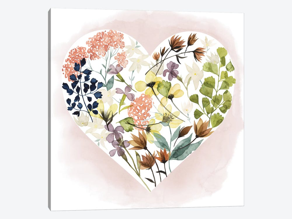 Love Floral I by Grace Popp 1-piece Canvas Print