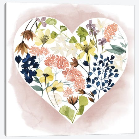 Love Floral II Canvas Print #POP236} by Grace Popp Canvas Wall Art