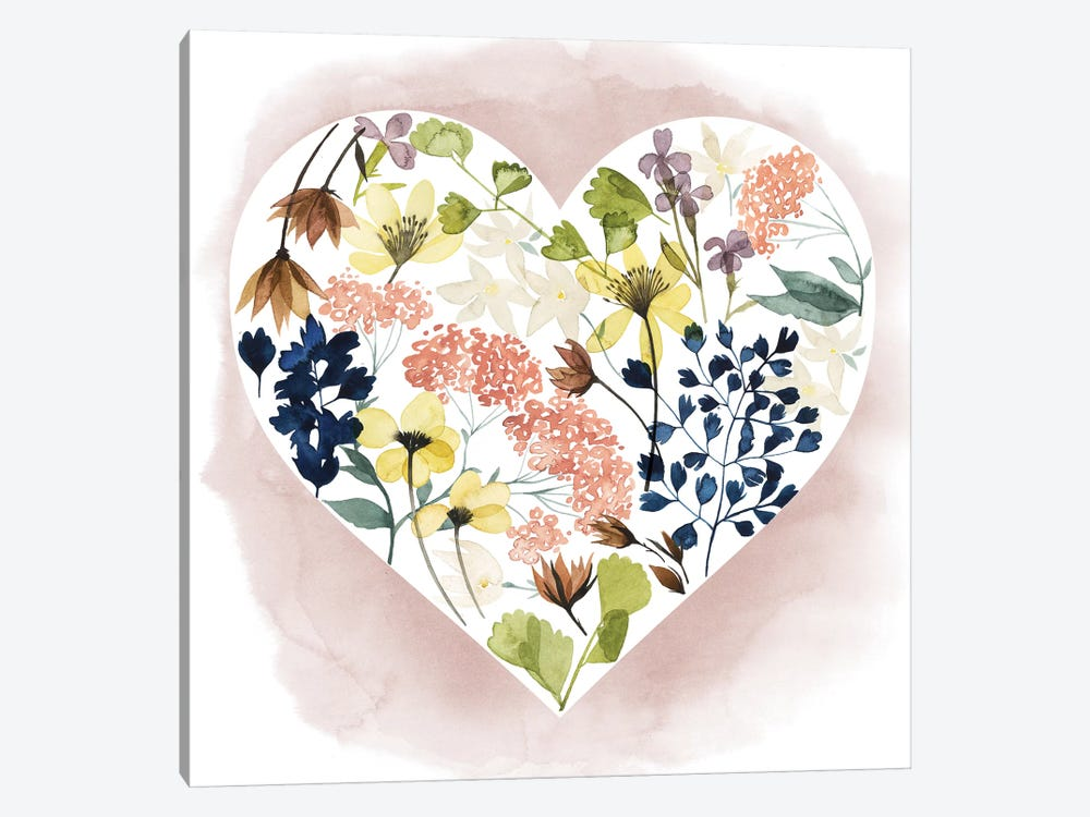 Love Floral II by Grace Popp 1-piece Canvas Artwork
