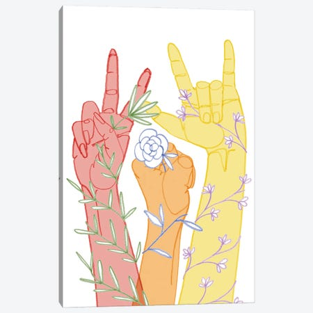Love Each Other I Canvas Print #POP2373} by Grace Popp Canvas Art Print