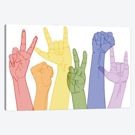 Love Each Other III Canvas Print #POP2375} by Grace Popp Canvas Artwork