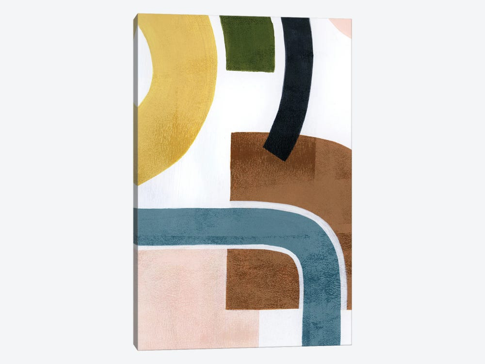 Shifting Shapes II by Grace Popp 1-piece Canvas Art