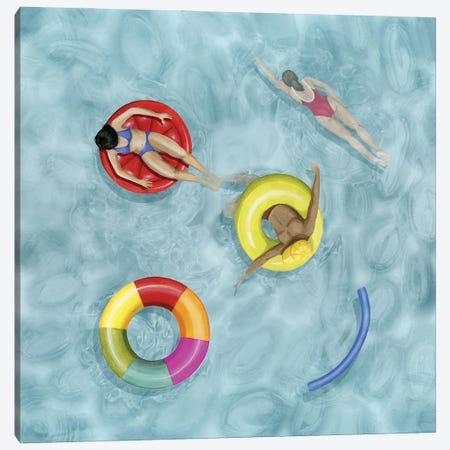 Poolside II Canvas Print #POP2482} by Grace Popp Art Print