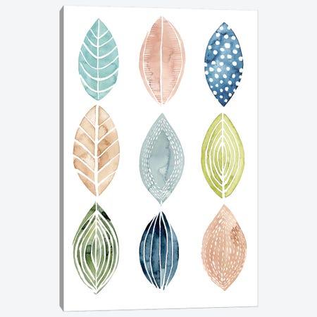 Patterned Leaves II Canvas Print #POP252} by Grace Popp Art Print