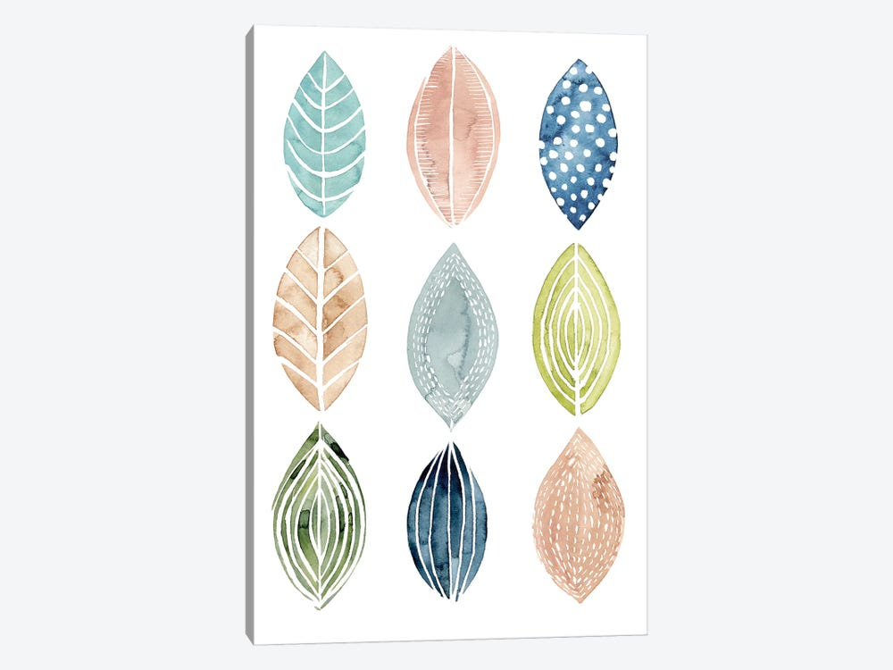 Patterned Leaves II 1-piece Canvas Artwork