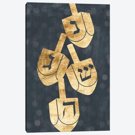 Golden Hanukkah Collection II Canvas Print #POP2554} by Grace Popp Canvas Art