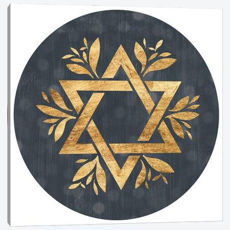 Golden Hanukkah Collection III Canvas Print #POP2555} by Grace Popp Canvas Wall Art