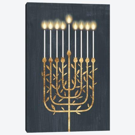Golden Hanukkah I Canvas Print #POP2557} by Grace Popp Canvas Artwork