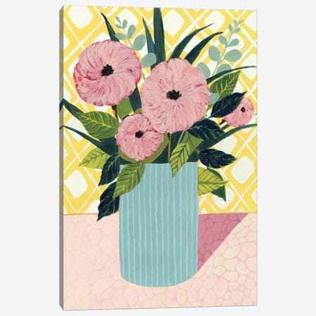 Retro Bouquet I Canvas Print #POP255} by Grace Popp Canvas Wall Art