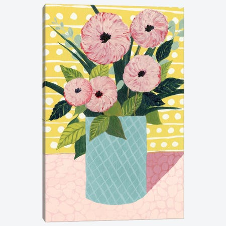 Retro Bouquet II Canvas Print #POP256} by Grace Popp Canvas Wall Art