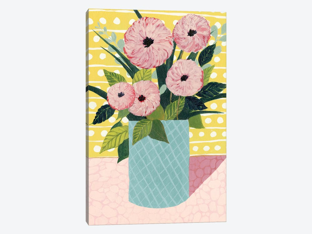 Retro Bouquet II 1-piece Canvas Artwork
