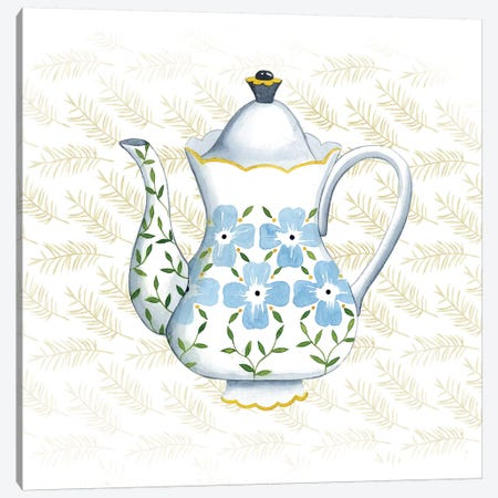 Sweet Teapot I Canvas Print #POP263} by Grace Popp Canvas Artwork