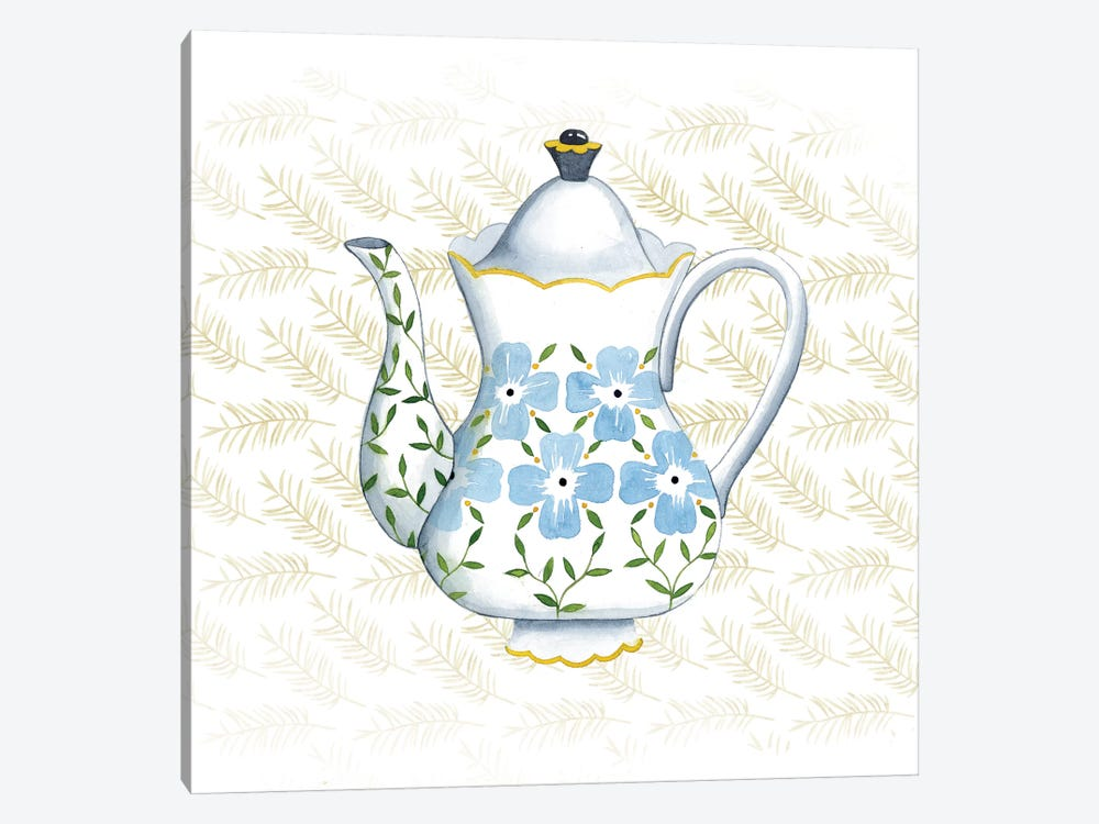Sweet Teapot I by Grace Popp 1-piece Canvas Artwork