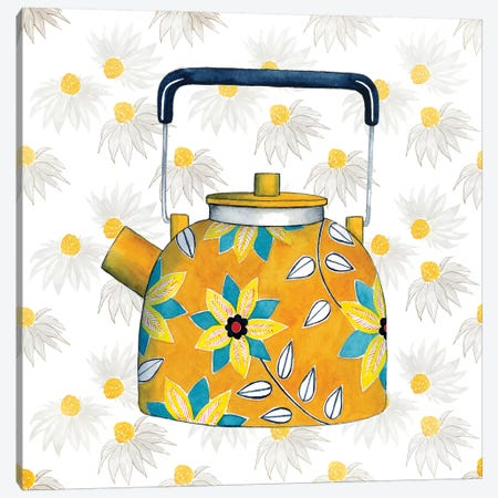 Sweet Teapot III Canvas Print #POP265} by Grace Popp Art Print