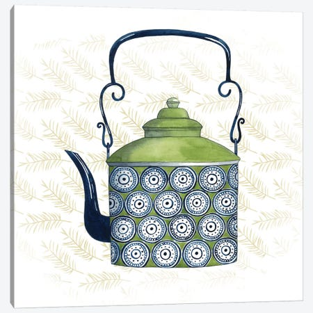 Sweet Teapot IV Canvas Print #POP266} by Grace Popp Art Print