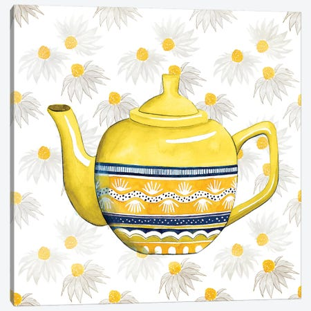 Sweet Teapot V Canvas Print #POP267} by Grace Popp Art Print