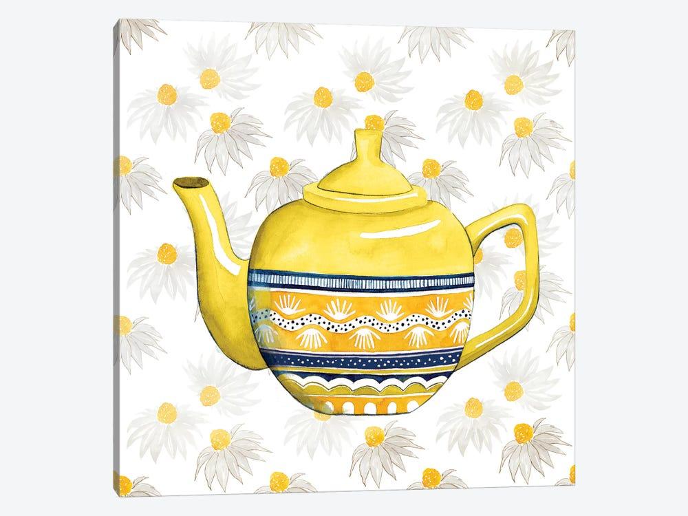 Sweet Teapot V by Grace Popp 1-piece Canvas Art