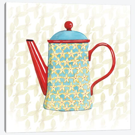 Sweet Teapot VI Canvas Print #POP268} by Grace Popp Canvas Wall Art