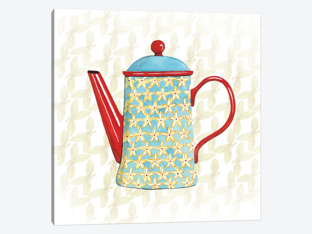 Sweet Teapot VI by Grace Popp 1-piece Canvas Art Print