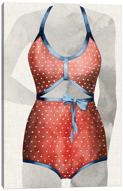 Vintage Bathing Suit II Canvas Art Print