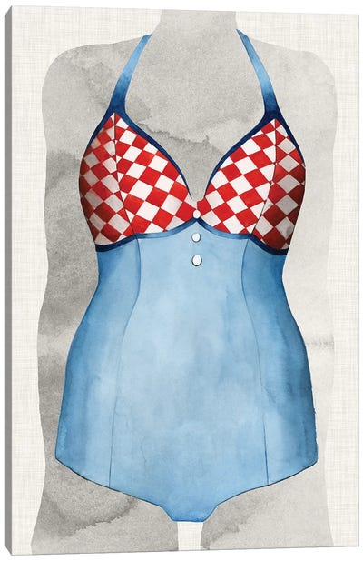 Vintage Bathing Suit III Canvas Art Print