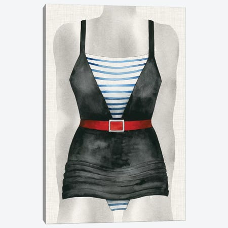 Vintage Bathing Suit IV Canvas Print #POP279} by Grace Popp Art Print