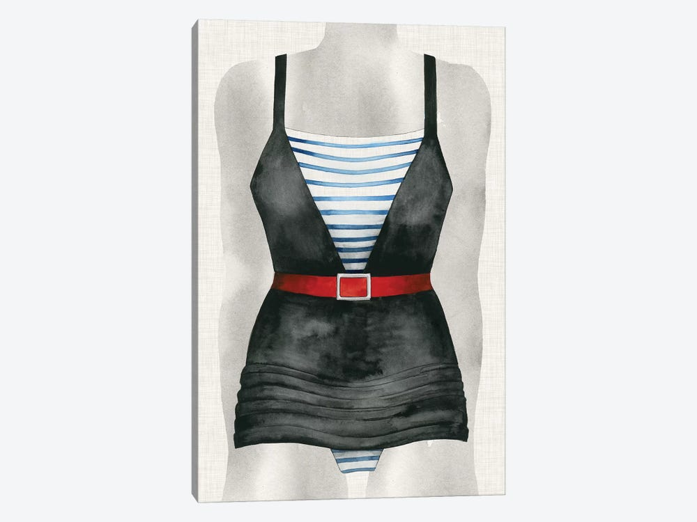Vintage Bathing Suit IV by Grace Popp 1-piece Canvas Art Print