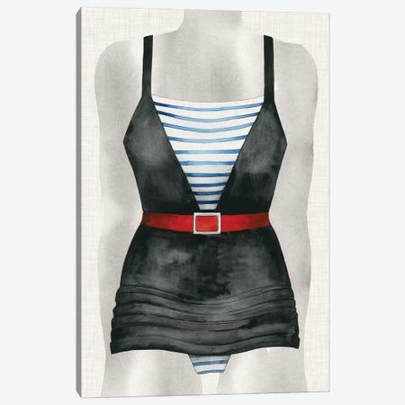 Vintage Bathing Suit IV Canvas Print #POP279} by Grace Popp Art Print