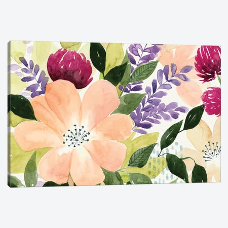 Vivid Blooming I Canvas Print #POP280} by Grace Popp Canvas Wall Art
