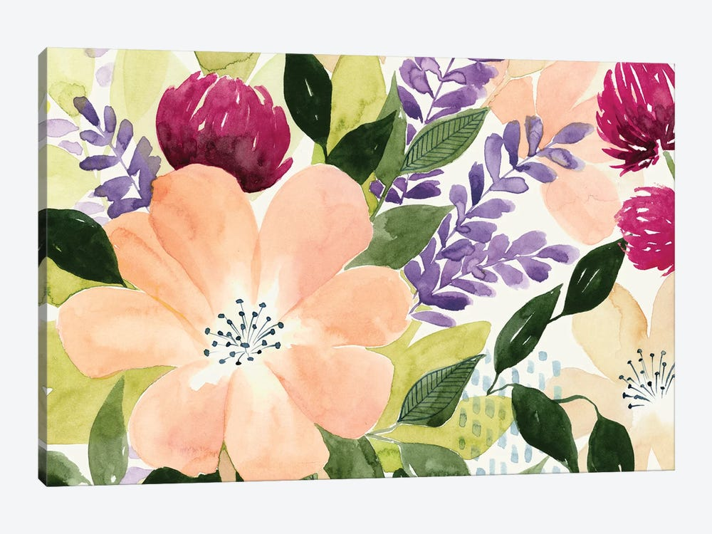 Vivid Blooming I by Grace Popp 1-piece Canvas Print