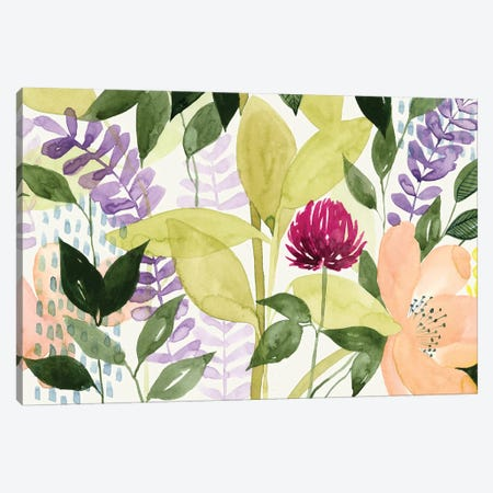 Vivid Blooming II Canvas Print #POP281} by Grace Popp Canvas Art