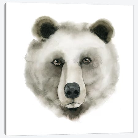 Watercolor Bear Canvas Print #POP286} by Grace Popp Art Print