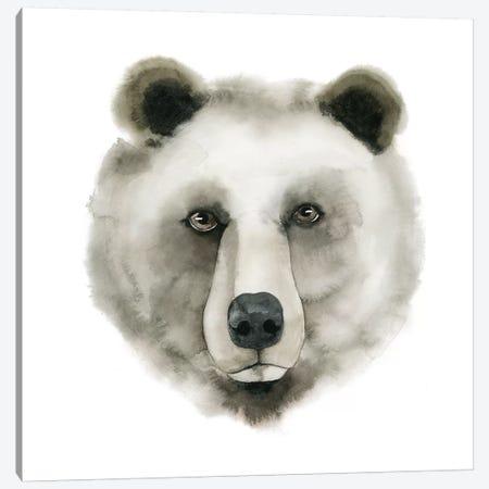 Watercolor Bear Canvas Print #POP286} by Grace Popp Art Print