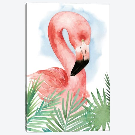 Watercolor Flamingo Composition I Canvas Print #POP288} by Grace Popp Canvas Artwork