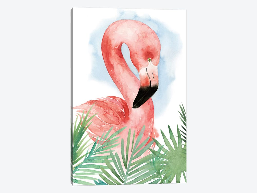 Watercolor Flamingo Composition I by Grace Popp 1-piece Canvas Print
