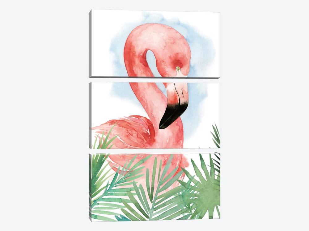 Watercolor Flamingo Composition I by Grace Popp 3-piece Art Print