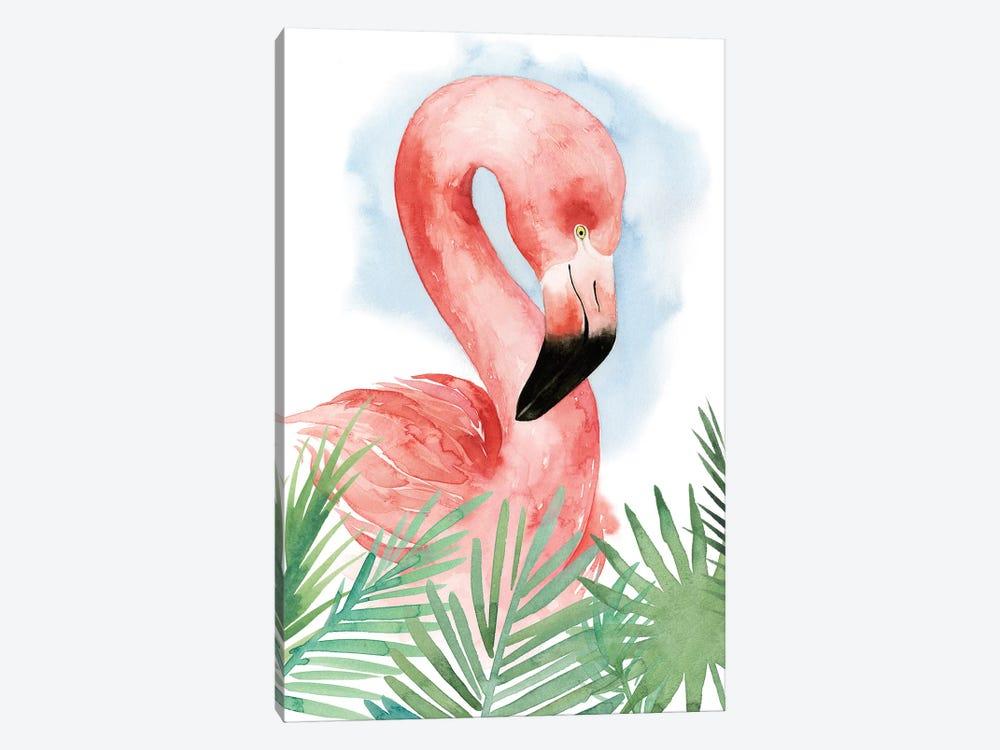 Watercolor Flamingo Composition I by Grace Popp 1-piece Canvas Print
