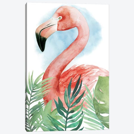 Watercolor Flamingo Composition II Canvas Print #POP289} by Grace Popp Canvas Artwork